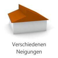 Grafik Dach verschiedene Neigungen